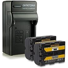 M&L Mobiles® | Novedad - 4in1 Cargador + 2x Batería como NP-FM500H NPFM500H con Infochip · 100% compatible con Sony DSLR-A200 | DSLR-A300 | DSLR-A350 | DSLR-A450 | DSLR-A500 | DSLR-A550 | DSLR-A560 | DSLR-A580 | DSLR-A700 | DSLR-A850 | DSLR-A900 | SLT-A57 | SLT-A65V | SLT-A77V | SLT-A99V