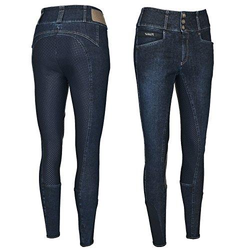 Pikeur Damen Vollbesatz Reithose Candela Jeans Grip, Denim Blue, 88