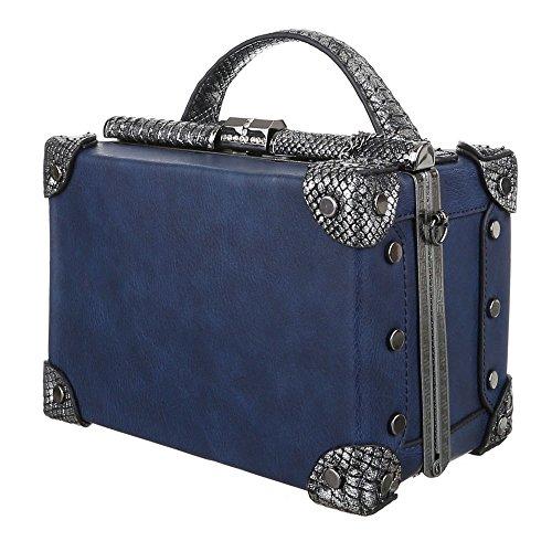 Schultertasche Koffertasche Blau