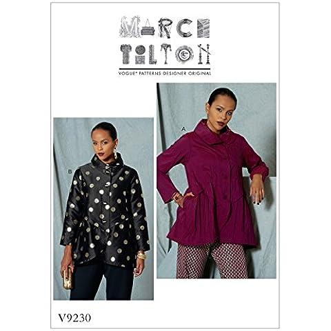 Vogue Patterns 9230–Cartamodello giacca–Cartamodello, multicolore, taglie