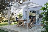 Terrassen-Überdachung Trend 312 x 250 cm Weiß RAL 9010