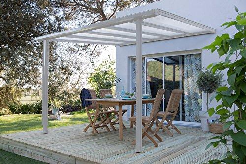 Beckmann Terrassen-Überdachung Trend 312 x 250 cm Weiß RAL 9010