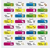 Mabi-IN-Design 100 Stück Namensaufkleber Sticker mit Namen 5x1,5 cm, Etiketten für Kinder, Schule und Kindergarten, individueller Druck personalisiert A100