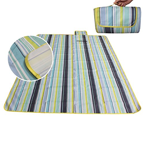 LGZOOT Picknickdecke 200 * 200 cm Oxford Tuch Material und wasserabweisende Base Outdoor Camping Decke Mat Sandlose Strand Matte,300*300cm
