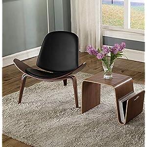 CN Einfache Nordic Dreieckshell Stuhl Lächeln Stuhl Wohnzimmer Gebogen Holz Flugzeug Stuhl Studie Stuhl