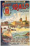 Vintage Poster Saint Malo, Format 40 x 60 cm