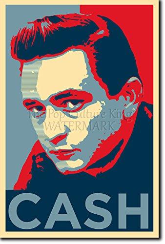 Johnny Cash: Stampa artistica (Parodia di Obama Hope). Poster Fotografico Idea Regalo 30x20cm Cartellone