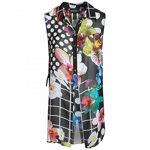 Frank Lyman Sleeveless Floral Print Long Blouse