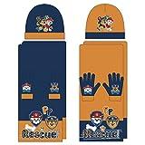Paw Patrol 3tlg. Winterset AUSWAHL Kindermütze Kinderschal Kinderhandschuhe (Orange)