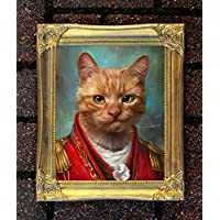 """Cattitude"" Fine Oleograph on Canvas of a Ginger Tom"