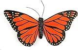 "Feather Butterflies With Wire 6"" 1/Pkg-Orange & Black Monarch"