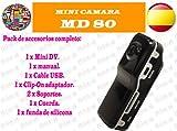 Videokamera Mini DV MD80 Spycam, Modellbaukamera und Webcam - kleinste digitale Videokamera der Welt !!! mit viel Zubehr! 2,0-Megapixel Kamera fr Bilder mit hoher Auflsung