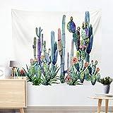jtxqe Moda Europa e Stati Uniti arazzo Caldo Appeso a Parete Panno Appeso arazzo Decorativo Cactus arazzo Spiaggia Asciugamano Cuscino R005-I 130 * 150 cm