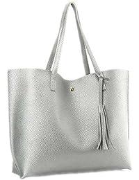fb805e244a Simili cuir sac à main Femme Sac à main femme Tassel Rivet Sac à bandoulière  Arrivée