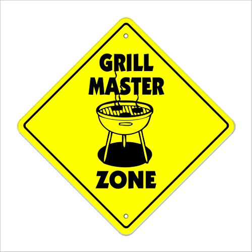 SignMission Grill Master Crossing Sign Zone Xing |-| 30,5cm Hoch BBQ Grillen Grill BBQ Sauce - Vision Grills Zubehör
