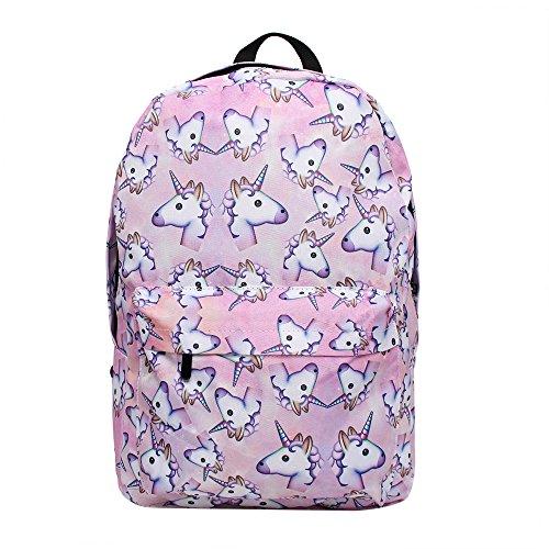 Imagen de smallbox 2017 nueva moda unicornio patrón  de la escuela de las muchachas totalmente impreso viaje de la cabina bolsa pack de 3  rosa  alternativa