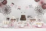 Partyset Komplettset rosa 48 teilig Partygeschirr Geburtstag Kindergeburtstag Teller Becher Servietten Party Deko