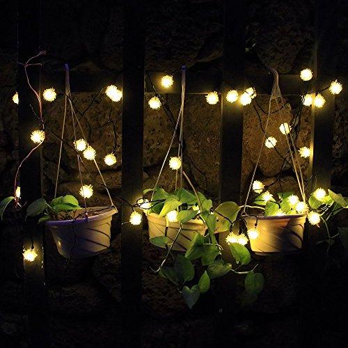 Cadena de Luz LED con Energía Solar WEINAS® Luces Solares de La Secuencia, Luz de Decoración Exterior / Interior Impermeable para Hogar, Fiestas, Boda, Arbóles Navidad, Jardín, Patio, Terraza y al Aire Libre (Interruptor Individual)