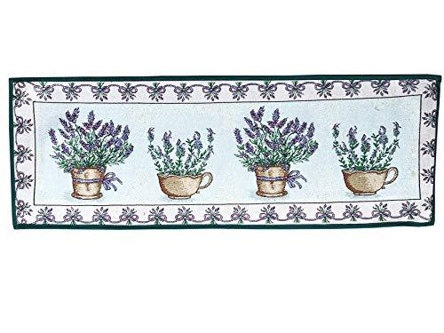 Küche / Schlafzimmer / Treppe Teppich Teppich Lavendel-Druck Waschbar Jacquard-Material Gummi...