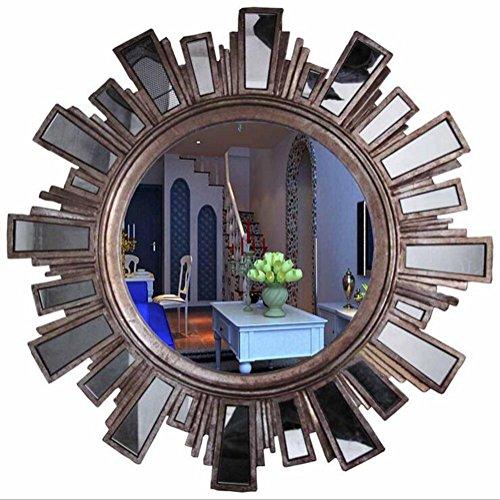 ZXLIFE ZXLIFESchminkspiegel ® Dekorspiegel Eingangsspiegel Wandkaminspiegel European Spiegel Wandspiegel Badezimmer American, Champagne Silver Figure American Champagne