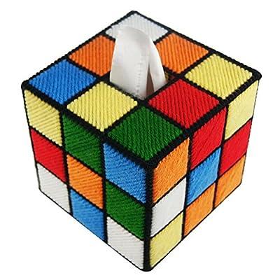 Funda S&C para pañuelos de papel, diseño de cubo de Rubik
