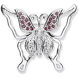 Meadow Brosche Schmetterlings-Design Amethyst und Swarovski-Kristalle