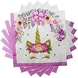 Partysanthe Unicorn Tissues/Tissue Paper/Paper Napkin/Unicorn Theme/Birthday Party (20 Pcs)