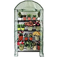 OUTOUR Longer 35x19.6x66.5in 4 Tier Wider Portable Plant Mini Greenhouse Green House with Casters, for Growing Seeds, Seedlings, Tending Potted Plants, Garden Gardening Indoor Outdoor