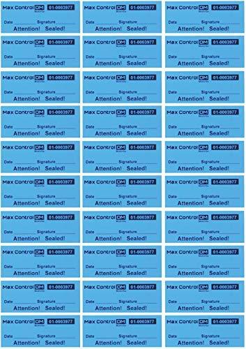 100Customs Aufkleber Qualitätskontrolle Hohe Sicherheit manipulationssicherer Garantie erlischt Etiketten, Blau -