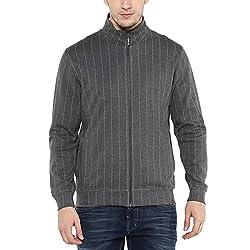 Wills Lifestyle Mens Zip Through Neck Stripe Sweatshirt