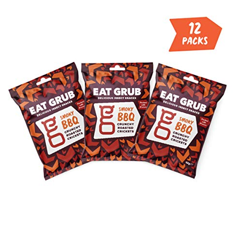 Croccanti Grilli Tostati di Eat Grub (12 Smoky BBQ)