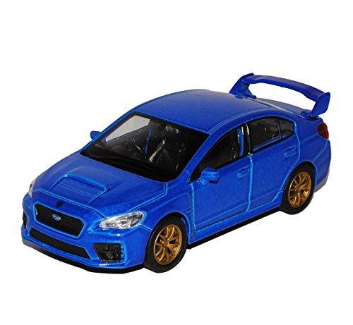 subaru-impreza-wrx-sti-limousine-blau-ab-2014-ca-1-43-1-36-1-46-welly-modell-auto