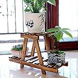 CUYY Hongyans Folding Plant Storage Shelves Rack Stand Fiore Scala con Scala 2 Punti for la Decorazione Domestica