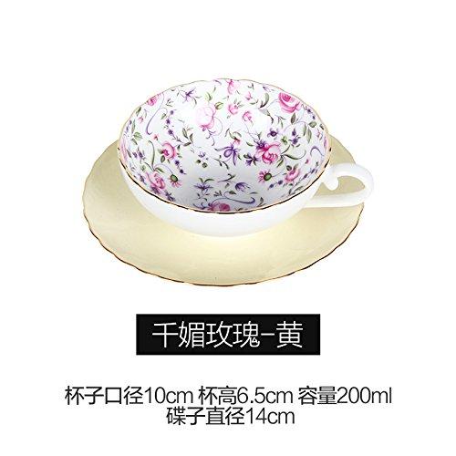 TBSB Bone China kaffeetasse, nachmittags Kaffee, Tee - Cup,acht Bone China Cup 8