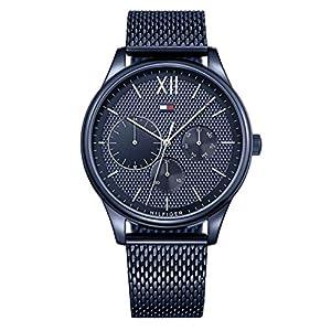 Tommy Hilfiger Reloj Multiesfera para Hombre de Cuarzo con Correa en Acero Inoxidable 1791421