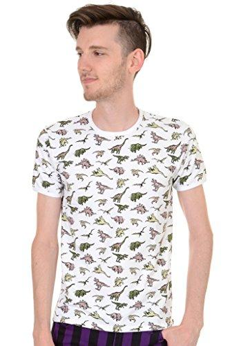 Mens Run & Fly Vintage Retro Jurassic Dinosaur Hipster T Shirt