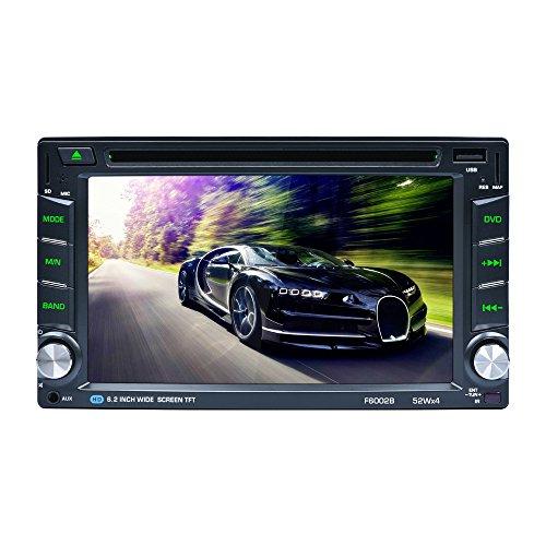GPS Auto-Spieler, CATUO 6.2 Zoll Navigationssystem DVD Player mit GPS Navigation Unterstützung GPS/DVD/RADIO/BLUETOOTH/USB/TF/AUX IN/ +Free 8GB Map Karte+ Ausgabe 52 Watt * 4 Kanäle