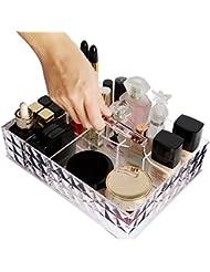 Lifewit Boîte de Rangement Cosmétique Maquillage Organisateur Acrylique de Qualité Stockage Multifonctionnel Grande Capacité avec Poignée