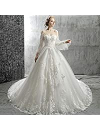 30f6f75e68ae WJZ Sposa Abito Da Sposa Sen Dipartimento Fata Principessa Sogno Bianco Di  Grandi Dimensioni Era Sottile