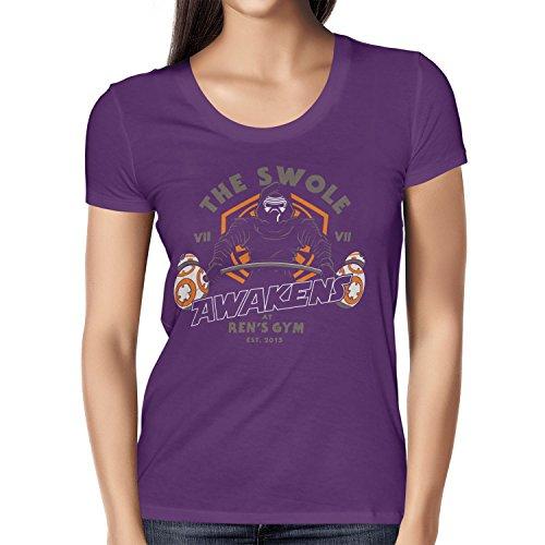 TEXLAB - The Swole - Damen T-Shirt, Größe L, violett (Baby Luke Und Leia Kostüme)