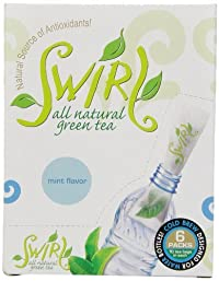 Swirl Green Tea Cold-Brewed On-The-Go, Mint, 0.88 Ounce (Pack of 6)
