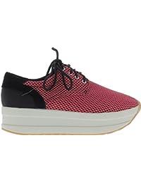 online store da893 d421c ChaussMoi Sneakers Donna Rosa e Nera Nido Suole Spesse Ape