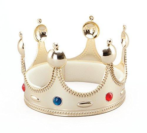 Bristol Novelty BA458 Superior Kings Krone zum Kostüm, Gold, - Renaissance Männliche Kostüm