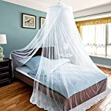 DI GRAZIA Mosquito NET Elegant Bed Canopy Set Including Hanging Kit for Indoors
