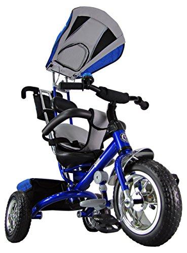 Kiddo Blau Smart Design 4-in-1 für Kinder Dreirad Kinder Trike 3 Räder Fahrrad Eltern Neue (Blau) Trike Schieben