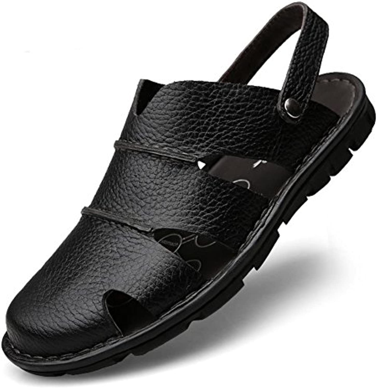 Sandalen Männer Leder Mode Wasser Schuhe Sommer Soft Cowhide Beach Slipper  46Sandalen Männer Wasser Cowhide Slipper