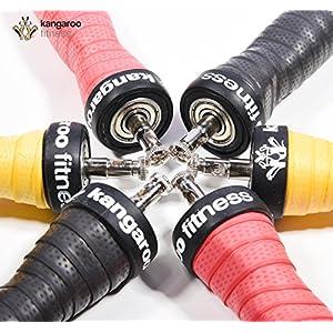 Kangaroo Fitness Höchste Qualität beim Speed Rope Springseil, langlebige Bauweise & ergonomische Anti-Rutsch Handgriffe sowie Bonus Trainingsplan & extra Seil