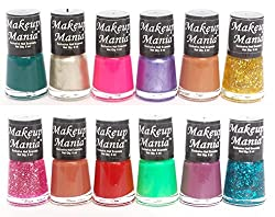 Makeup Mania Exclusive Nail Polish Set of 12 Pcs (Multicolor Set  84)
