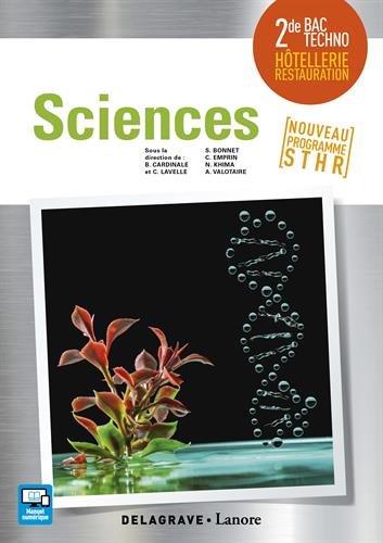 Book's Cover of Sciences 2de bac STHR  Livre élève