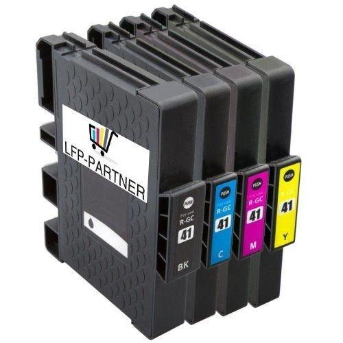 Preisvergleich Produktbild 4er Multipack Ricoh GC-41 kompatible Tintenpatrone Pigment für Aficio SG 2100N 3100 7100